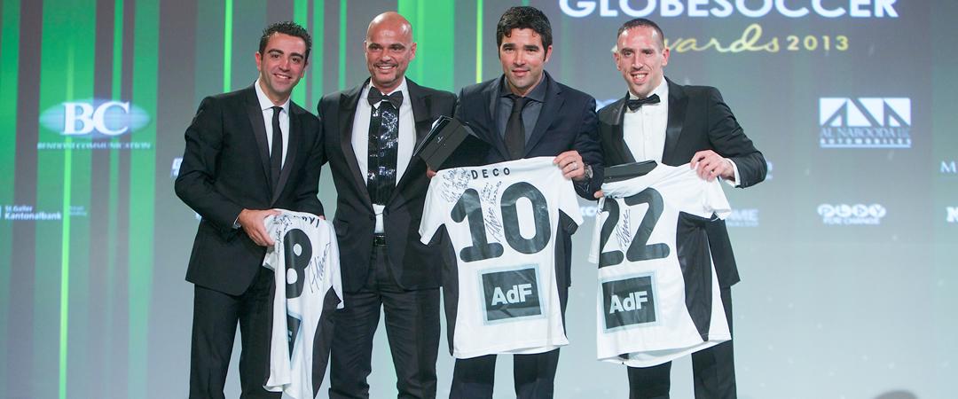 AdF, Xavi, Deco and Ribery at Globe Soccer Awards